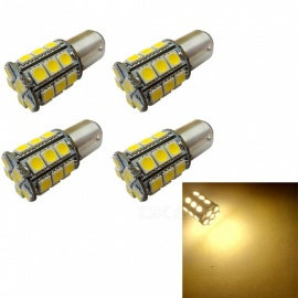 HONSCO 4Pcs 1142 BA15D 27SMD 5050 Tail Turn Signal lamp Warm White Rear Brake Lights, Car Light Source