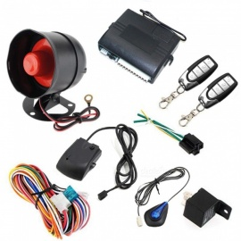 OJADE One Way Car Alarm Vehicle System, Protection Security System, Keyless Entry Siren + 2 Remote Controller