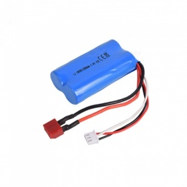 7.4V 1500mAh 15C Li-ion Battery, Model T 18650*2 Rechargable Battery for Remote Control Car Boat Drone - Blue