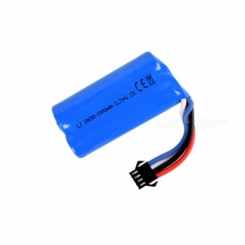 7.4V 1500mAh Li-ion Battery, SM-4P 18650*2 Rechargable Battery for Remote Control Car Boat Drone - Blue