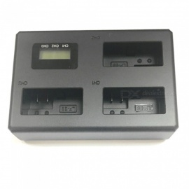 Lp-e8 Digital Camera 3-Slot Battery Charger with LCD Display