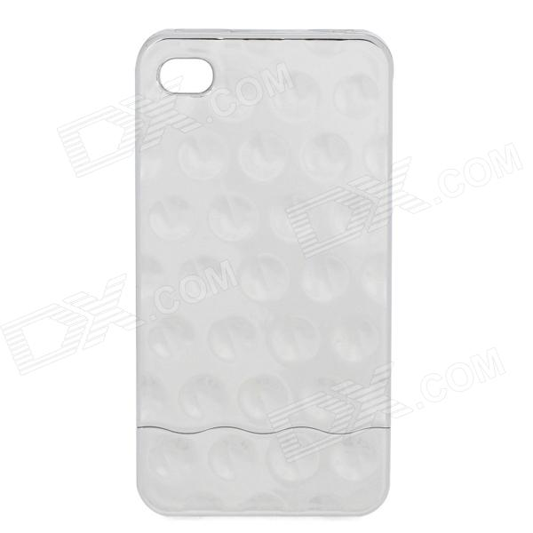 Electroplating Shiny Bubble Style Slider Hard Case Cover for   Iphone 4 - Silver