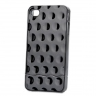Electroplating Shiny Bubble Style Slider Hard Case Cover for Apple iPhone 4 - Black