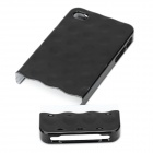 Electroplating Shiny Bubble Style Slider Hard Case Cover for   Iphone 4 - Black