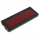 Programmable Scrolling LED Name/Message/Advertising Tag Card Badge - Red Light (1 x CR2032)
