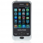 "D998 2.8"" Touch Screen Dual SIM Dual Network Standby Dualband GSM DVB-T Cell Phone w/ JAVA - White"