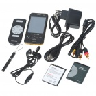 "D998 2.8"" Touch Screen Dual SIM Dual Network Standby Dualband GSM DVB-T Cell Phone w/ JAVA - Black"