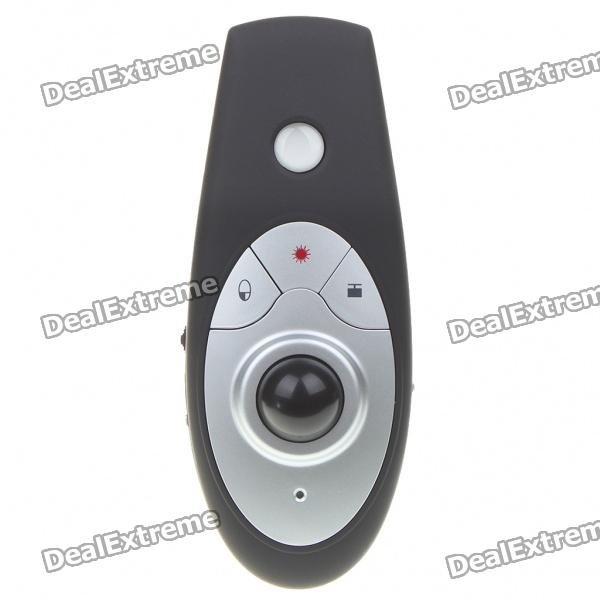 USB RF Wireless Presenter with Laser Pointer and Trackball for PC/Laptop (15-Meter Range)
