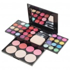 ADS Cosmetic Make-Up 24-Color Eye Shadow Kit w/ Mirror & Brush - Black