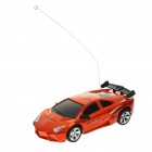 Cool R/C 2-CH Model 1:32 Scale Plastic Racing Car - Orange (3 x AA/2 x AA)
