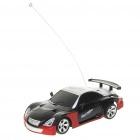 Coole R / C 2-CH Modell 1:32 Scale Plastic Racing Car - Schwarz + Silber (3 x AA / 2 x AA)