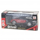 Cool R/C 2-CH Model 1:32 Scale Plastic Racing Car - Black + Red (3 x AA/2 x AA)