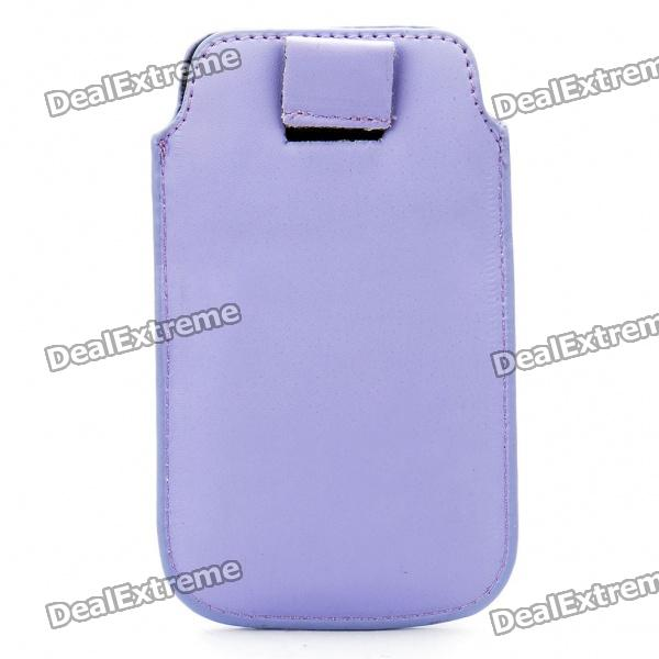 Protective PU Leather Case Pouch Bag for iPhone 3G/3GS/4 - Purple