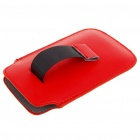 Protective PU Leather Case Pouch Bag for Iphone 3g/3GS/4 - Red