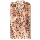 Protective Snake Skin Style Case with Magnetic Button for Iphone 4