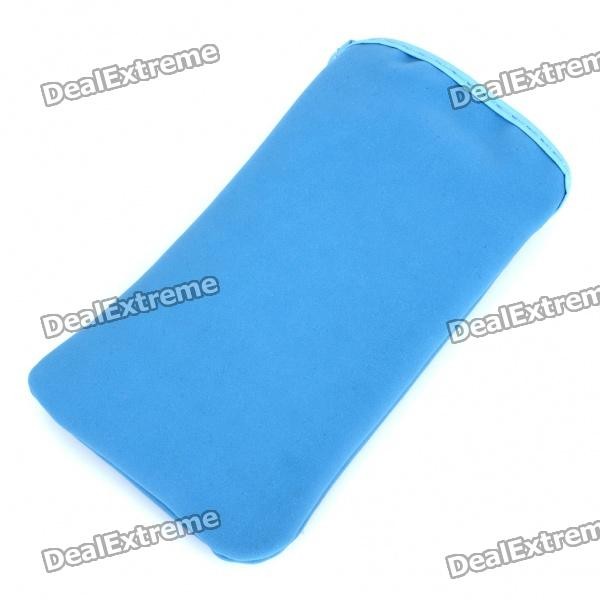 Protective Cloth Pouch Case Bag for Iphone 3g/3GS/4 - Dark Blue zippered sports armband bag pouch for iphone 4 dark blue