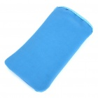 Protective Cloth Pouch Case Bag for iPhone 3G/3GS/4 - Dark Blue