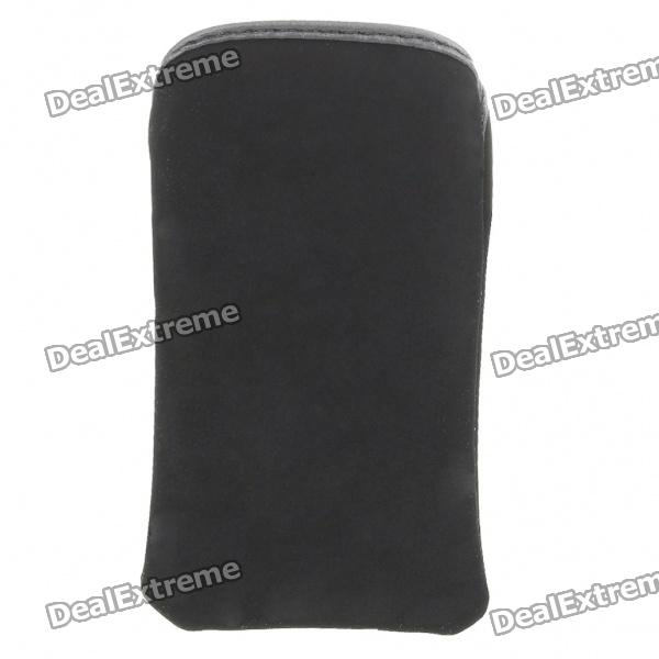 Protective Cloth Pouch Case Bag for iPhone 3G/3GS/4 - Black