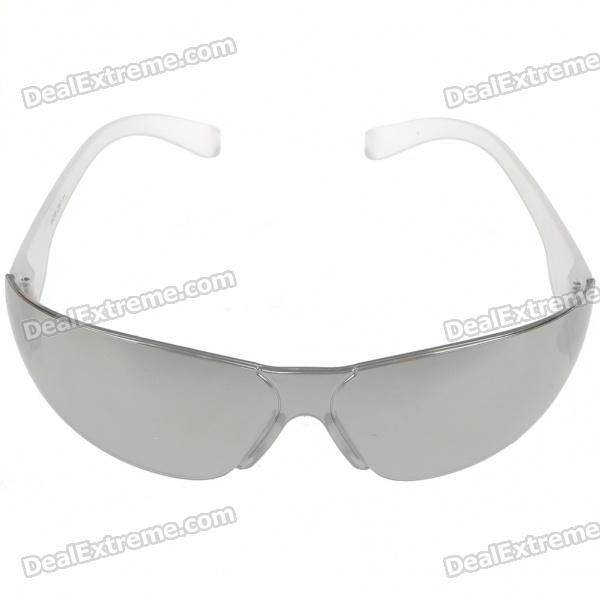 Multi-Function UV380 Protection PVC Lens Sunglasses/Goggles - Silver + White