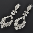 Elegant Crystal + Alloy Earrings (Pair)