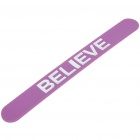 "Reflective Magic Slap Bracelet Band Wrap with ""BELIEVE"" Letters - Color Assorted"