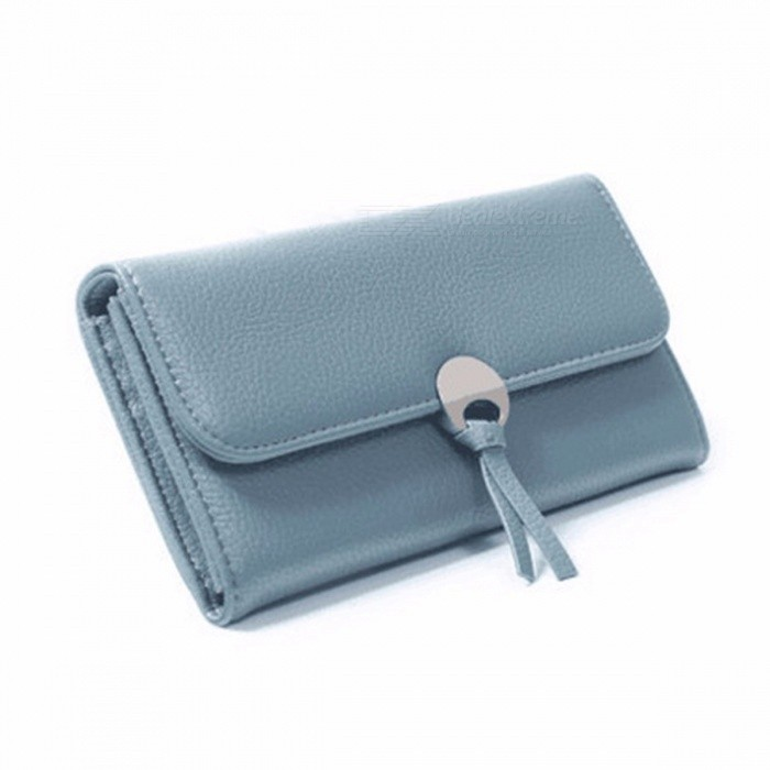 7efae3f6e95b Simple Style PU Leather Long Wallet For Women, Hasp Purse / Phone Bag With  Card Holder Pink