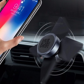 360 Degree Rotation Car Air Vent Mount Magnetic Phone Holder, GPS Navigator Bracket Stand Support For Phone Black