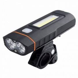 Bicycle Front Light Headlight, USB Rechargeable Taillight, Handlebar LED Cycling Safety Flashlight Bike Torch Black