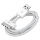 USB Data & Charging Cable for iPhone 4 - White (100cm-Length)
