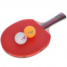High Quality Table Tennis Racket Bat with 2 Ping-Pong Balls - Long Handle