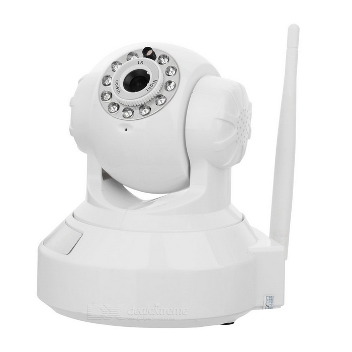 IP Wireless WIFI/LAN Network Surveillance Pan/Tilt Camera with Night Vision + Microphone