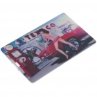 Stylish Car Show Girl Pattern Card Style USB Flash Drive (8GB)