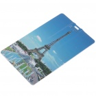 Stylish Eiffel Tower Pattern Card Style USB Flash Drive (4GB)