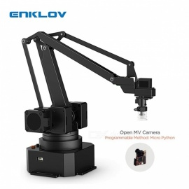 ENKLOV Universal Desktop Arm Gripper Holder Bracket Vision Camera Kit Black