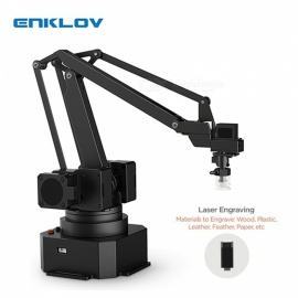 ENKLOV Universal Portable Desktop Arm Gripper Holder + S1 PRO Laser Engraving Kit Black