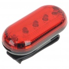 3-Mode 5-LED Safety Bike Red Light Tail Light with Mount - Black + Red