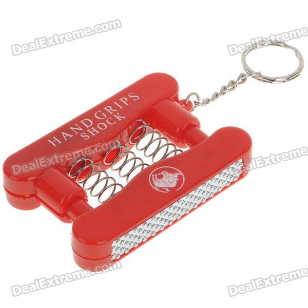 Practical Joke Shock-You-Friend Electric Shock Mini Hand Gripper Strength with Keychain (3*AG10)