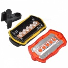 Bicycle Bike Safety Warning 5-LED Headlamp + Tail Light Set w/ 2-Mount