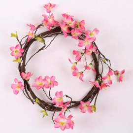 3D Artificial Plastic Azalea Flowers Home Decor Braided Wedding Garland For Party Window Decoration Art Pink