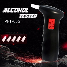 Mini Portable Police Alcohol Tester Breathalyzer Alcohol Detector With Red Backlight LCD Display + 5 Mouthpieces