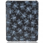 Protective Shining Dragonfly Pattern Hard Plastic Back Case for   Ipad - Black