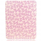Protective Shining Butterfly Pattern Hard Plastic Back Case for Apple iPad - Pink