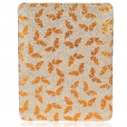 Protective Shining Butterfly Pattern Hard Plastic Back Case for   Ipad - Golden Yellow