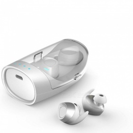 Earbuds Twins Bluetooth Earphone Sports Wireless Headset With Charge Box Magnetic Case White