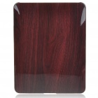 Protective Wood Grain Style Hard Plastic Back Case for   Ipad - Coffee