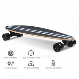 Electric Skateboard  Portable Motorized Penny Board Wireless Remote Controlled Longboard Scooters Skateboards Black