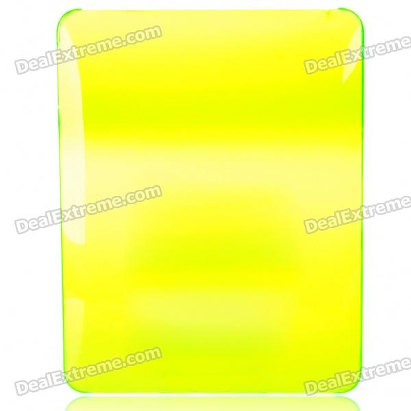 Protective Hard Plastic Back Case for   Ipad - Transparent Green