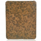 Protective Crocodile Grain Pattern Hard Plastic Back Case for   Ipad - Brown