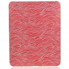 Protective Shining Wave Pattern Hard Plastic Back Case for   Ipad - Red