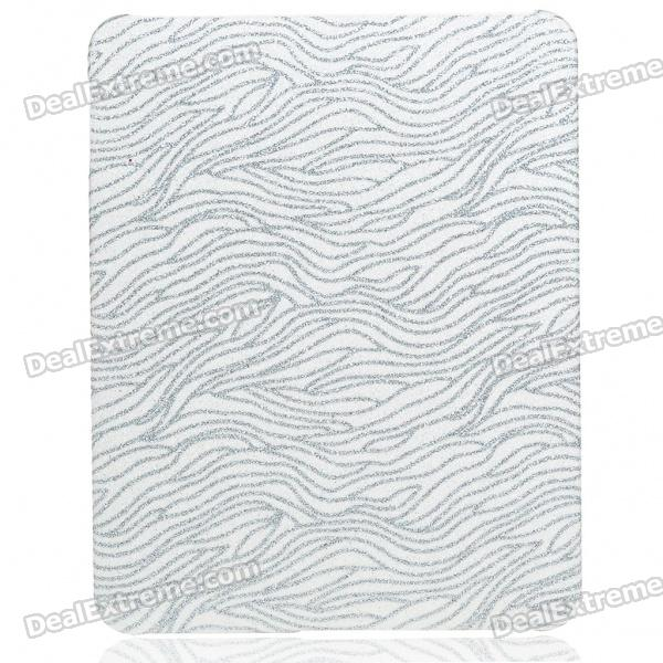 Protective Shining Wave Pattern Hard Plastic Back Case for   Ipad - Silver + White